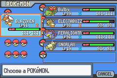 Pokemon Light Platinum - Character Profile team - my team on the other file - User Screenshot