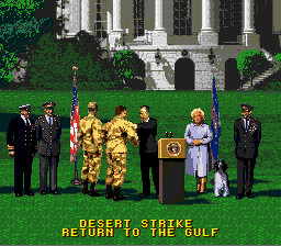 Desert Strike - Return to the Gulf - Ending  - Meet The Bush Family - User Screenshot
