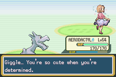 Pokemon Fire Red - Battle  - ...um, thanks, I guess.... - User Screenshot