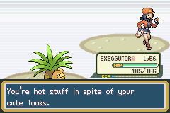 Pokemon Fire Red - Battle  - ...are you hitting on me? - User Screenshot