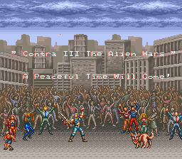 Contra III - The Alien Wars - Ending  - 1 - User Screenshot
