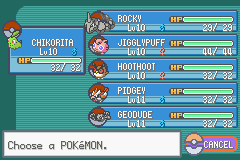 Pokemon Shiny Gold - Character Select  - My Team - User Screenshot