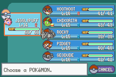 Pokemon Shiny Gold - Character Select  - Team as of 2/17/14 - User Screenshot