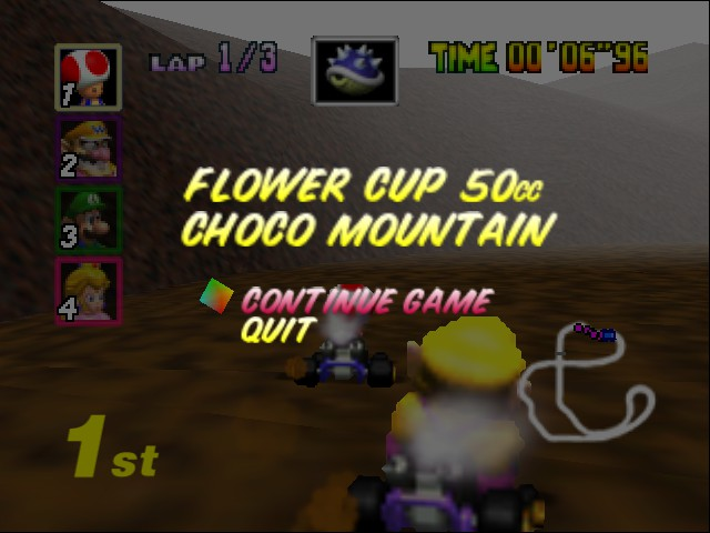 Mario Kart 64 - Level Choco Mountain - I