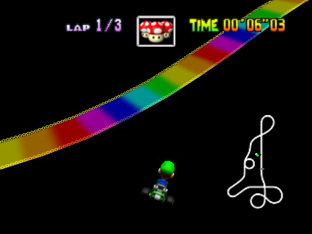 Mario Kart 64 - Level Rainbow Road - Ultimate Shortcuts FTW! - User Screenshot