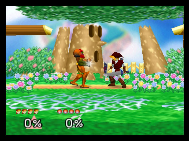Super Smash Bros. - Battle  - Link vs. Samus - User Screenshot