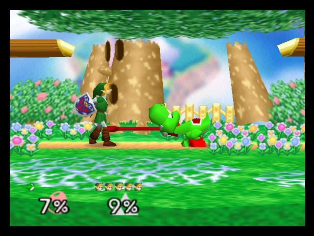 Super Smash Bros. - Battle  - Dinosaur feeding - User Screenshot