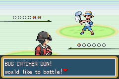 Pokemon Shiny Gold - Battling Don - User Screenshot