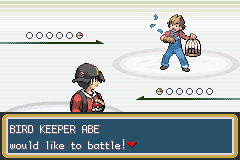 Pokemon Shiny Gold - Battling Abe - User Screenshot