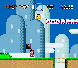 Super Mario World - Level Level 1 - itsa meeeeeeeh, maahreeehooooh - User Screenshot
