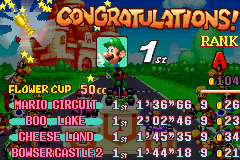 Mario Kart - Super Circuit - Gameover  - Ha i got a Rank A - User Screenshot