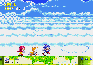 Sonic and Knuckles & Sonic 3 - Level Sky Sanctuary Zone - all 3 together - User Screenshot