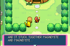 Pokemon Mystery Dungeon - Red Rescue Team - Cut-Scene  - One more Magnemite, and you can evolve! - User Screenshot