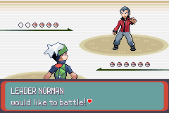 Pokemon Emerald - Battle  - Time to battle my old man  - User Screenshot