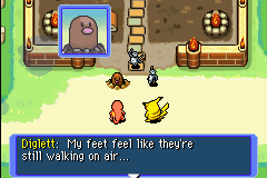 Pokemon Mystery Dungeon - Red Rescue Team - Cut-Scene  - So he DOES have feet... - User Screenshot