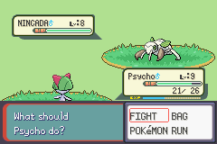 Pokemon Burning Ruby - Battle  - You can do this Ralts - User Screenshot
