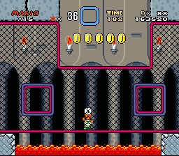 Super Mario World - Level  - Not dead, invisible :D - User Screenshot