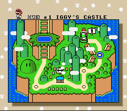 Super Mario World - Level Iggy - Iggy Azaleas Castle - User Screenshot