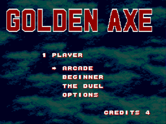 Golden Axe - Mode Select  - choose your mode! - User Screenshot