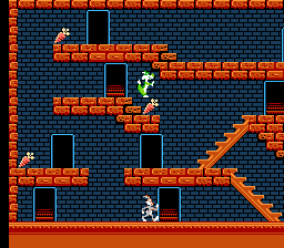 The Bugs Bunny Crazy Castle - Level  - Sylvester falling - User Screenshot
