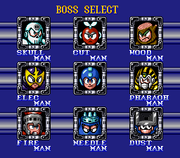 Elec Man -Level Select :Boss select - User Screenshot