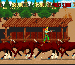 Sunset Riders - Level  - Do not mind me just standing on bulls - User Screenshot