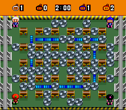 Bomberman (blue) -Level :One of the arenas - User Screenshot