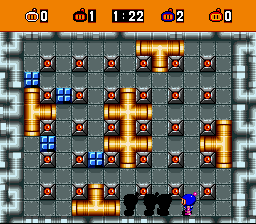 Bomberman (blue) -Level :Conga line. - User Screenshot