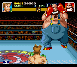 Super Punch-Out!! - Battle  - bear hugger - User Screenshot