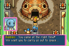 Pokemon Mystery Dungeon - Red Rescue Team - Cut-Scene  - Squirtle in space!! - User Screenshot
