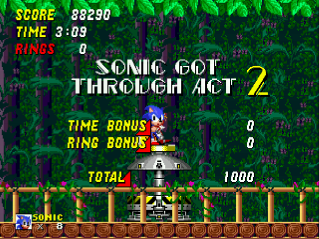 Sonic 2 Long Version - Level  - Bye new zone i will miss you. - User Screenshot