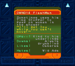 Rockman & Forte - Character Profile  - Flash Man is a perv - User Screenshot