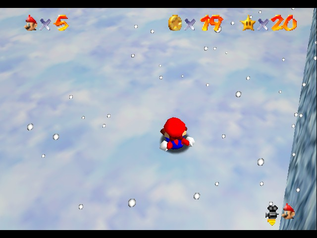 Super Mario 64 - Level Select  - Ouch! My ass! - User Screenshot