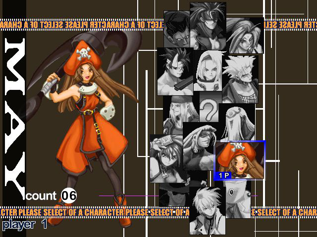 Guilty Gear X - Character Select  - May