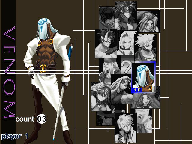 Guilty Gear X - Character Select  - Venom
