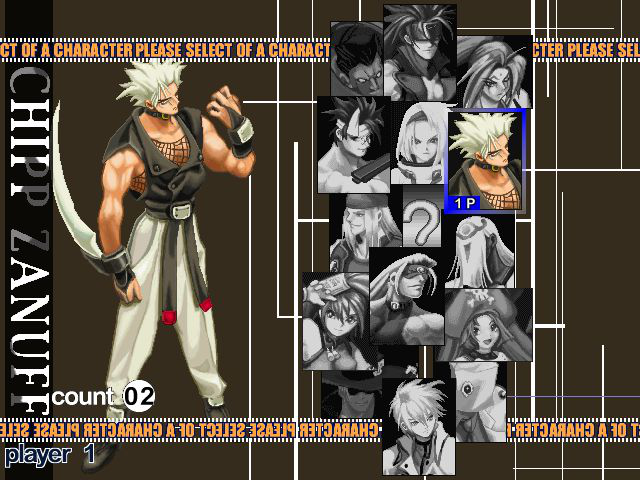 Guilty Gear X - Character Select  - Chipp