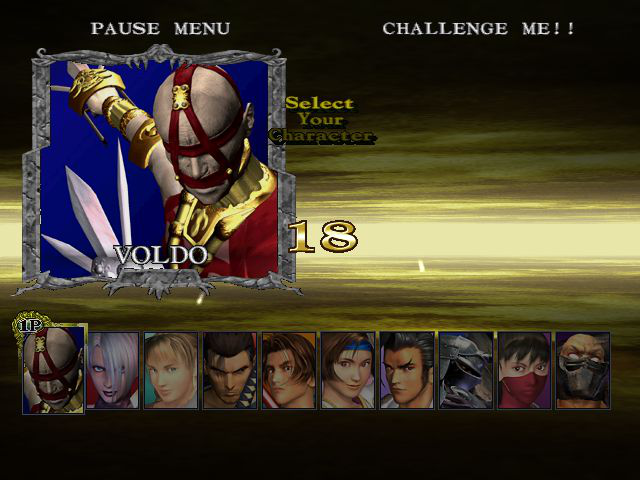 Soul Calibur - Character Select  - Voldo