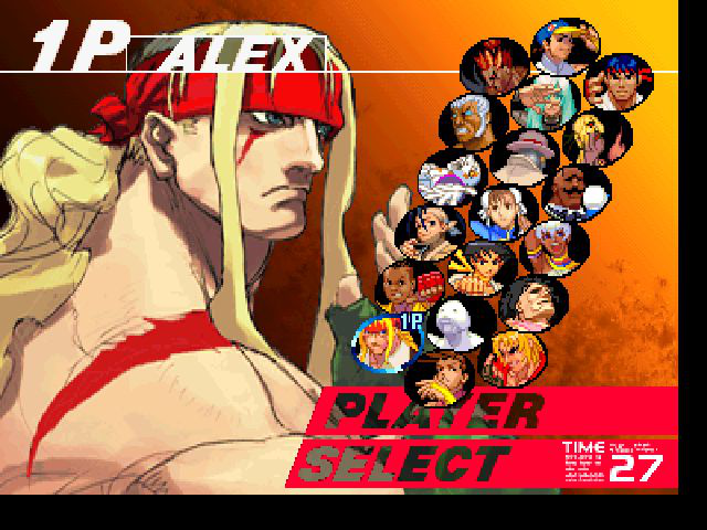Street Fighter III: Third Strike - Character Select  - Alex in SFIII - User Screenshot