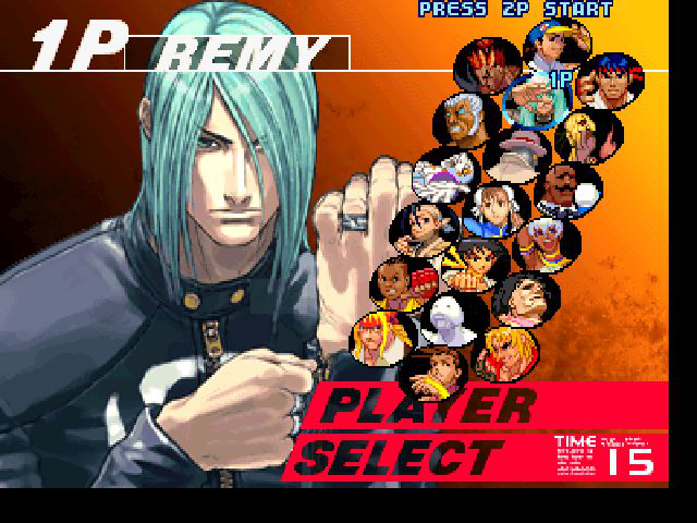 Street Fighter III: Third Strike - Character Select  - Remy in SFIII - User Screenshot