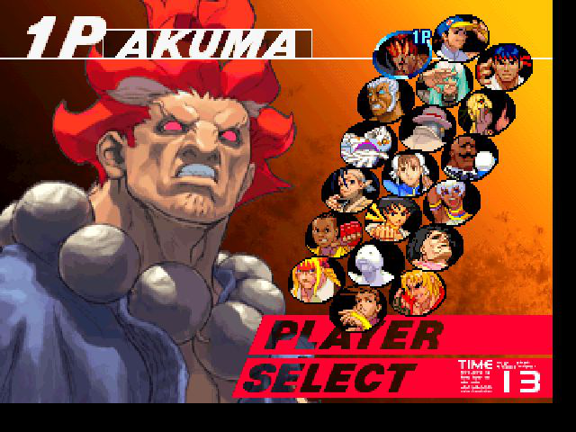 Street Fighter III: Third Strike - Character Select  - Akuma in SFIII - User Screenshot