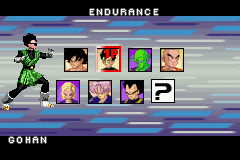 Dragon Ball Z - Taiketsu - Character Select  - Is Gohan wearing sunglasses?  - User Screenshot