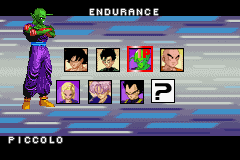 Dragon Ball Z - Taiketsu - Character Select  - Piccolo looks really creepy... - User Screenshot