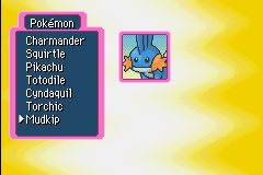 Pokemon Mystery Dungeon - Red Rescue Team - Character Select  - Partner select - User Screenshot