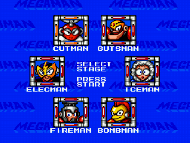 Elec Man -Character Select :Mega Man 1 robot masters ready for a fight - User Screenshot