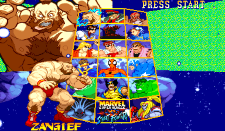 Marvel Super Heroes Vs. Street Fighter (Euro 970625) - Character Select  - Zangief