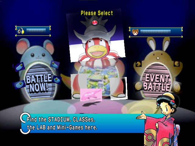 Pokemon Stadium 2 - Mode Select  - Mode select screen - User Screenshot