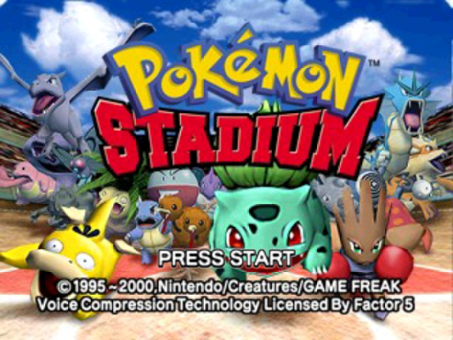 Pokemon Stadium - Introduction  - The title screen - User Screenshot
