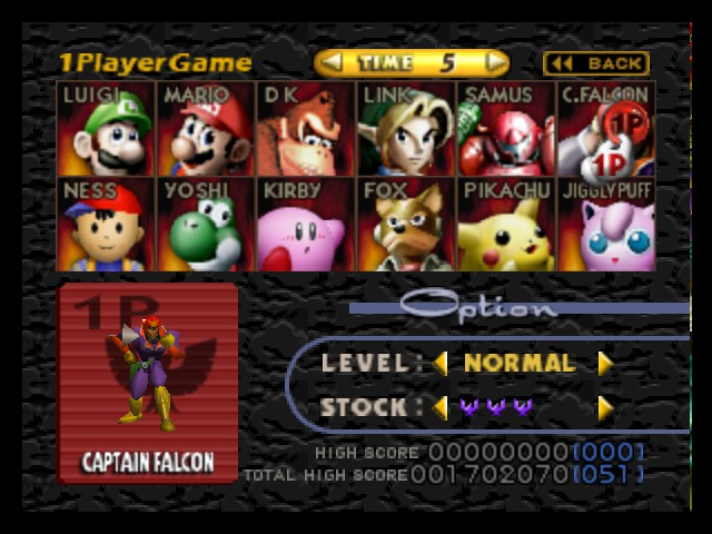 Super Smash Bros. - Character Select  - All characters umlocked - User Screenshot