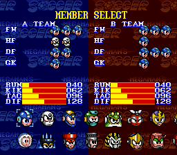 Elec Man -Character Select :The character select screen - User Screenshot