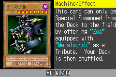 Yu-Gi-Oh! GX - Duel Academy - Character Profile  - Metalzoa. - User Screenshot